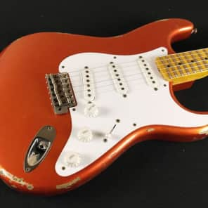 Fender Custom Shop 1954 Heavy Relic Stratocaster - Candy Tangerine for sale