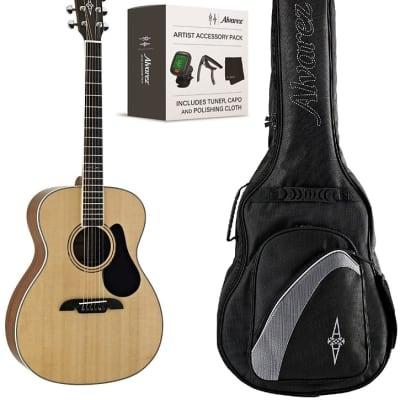 Alvarez AG60AGP OM Folk Guitar Pack .