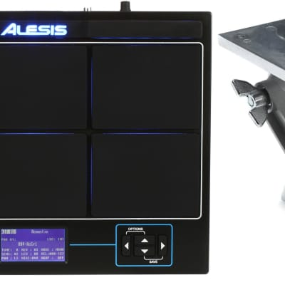 Roland APC-33 Electronic Module and Controller Mount - with Clamp + Alesis SamplePad Pro Percussion Pad Value Bundle