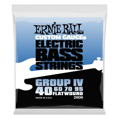 New Set Ernie Ball 2808 Flatwound Group 4 Electric Bass Guitar Strings - 40-95