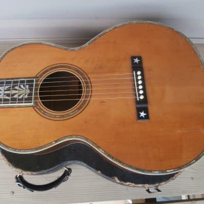Vintage Maurer 593 Presentation Model Acoustic Guitar w/ Case! Larson Brothers, Tree of Life Inlay! for sale