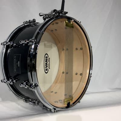 "Brooks 13"" X 7"" Maple Snare drum 2020 Black Marble"