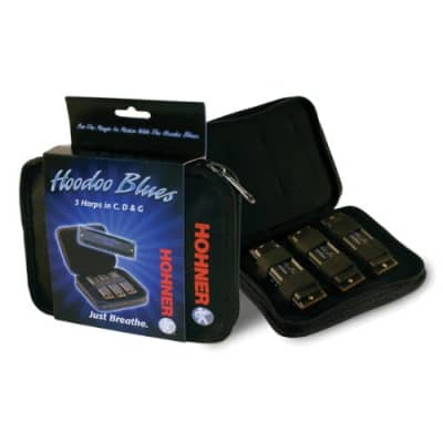 Hohner HBP HooDoo Blues Diatonic Harmonica 3-Pack - Keys of C, D, G