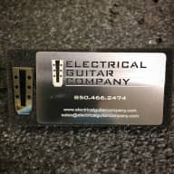 Electrical Guitar Company Nickel Pin And Stainless Steel Card 2017 Brushed & Polished