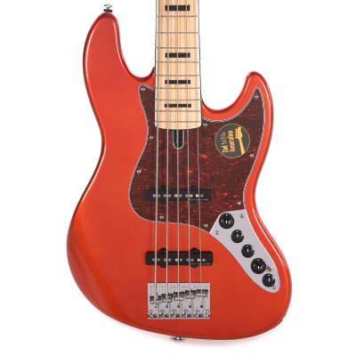 Sire Marcus Miller V7 Vintage Swamp Ash 5-String Bright Metallic Red (2nd Gen) for sale
