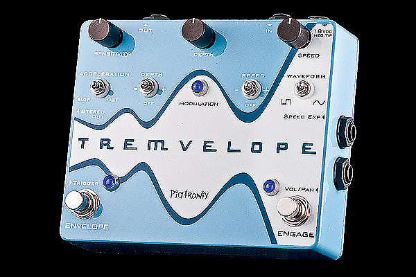 Pigtronix Tremvelope Envelope Modulated Tremolo Guitar Effect Pedal