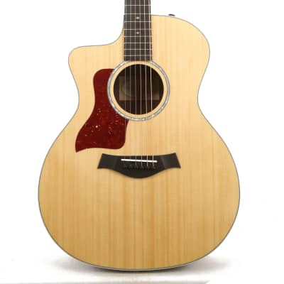 Taylor 214ce DLX Grand Auditorium Left-Handed Acoustic Guitar Natural Used