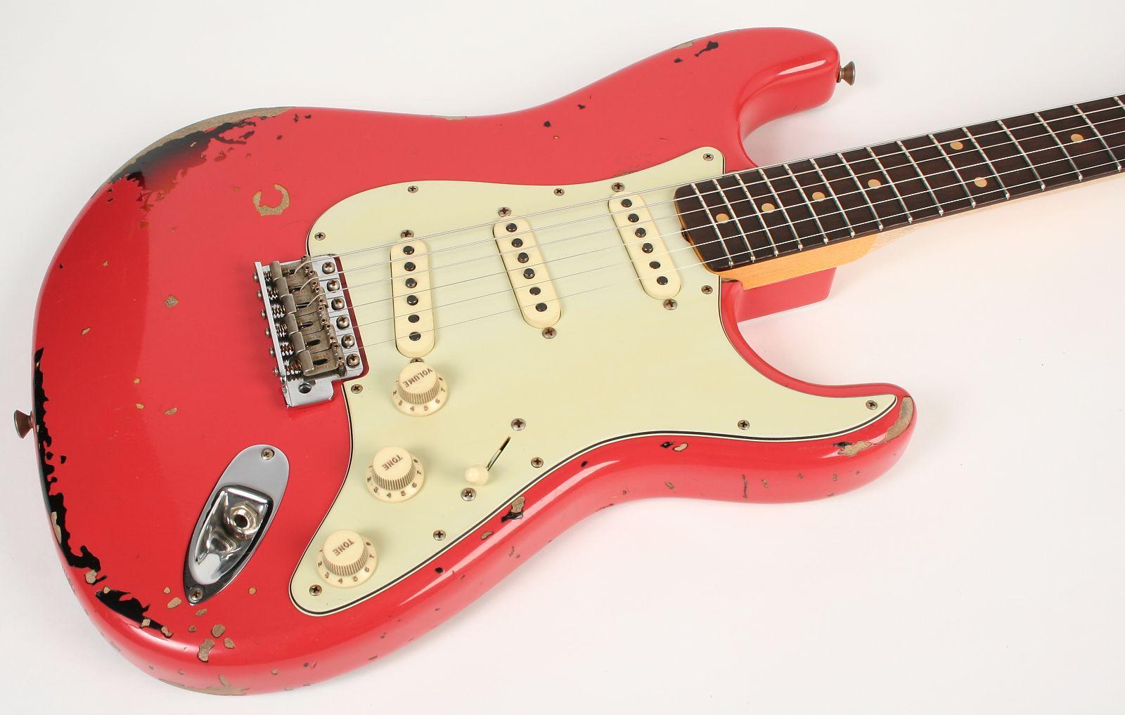 Fender Custom Shop Michael Landau 1963 Relic Stratocaster NEW Faded Fiesta  Red over 3-Color Sunburst