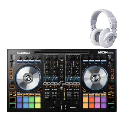 B-Stock Reloop Mixon4 4 Channel Pro DJ Controller for Serato DJ & Algoriddim DJAY  W/ free Headphone