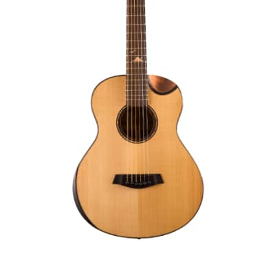 Islander MS-MG-EQ-Solid Spruce Mini Guitar, Mahogany Scoop Bevel Cutaway, EQ-Active Pickups for sale