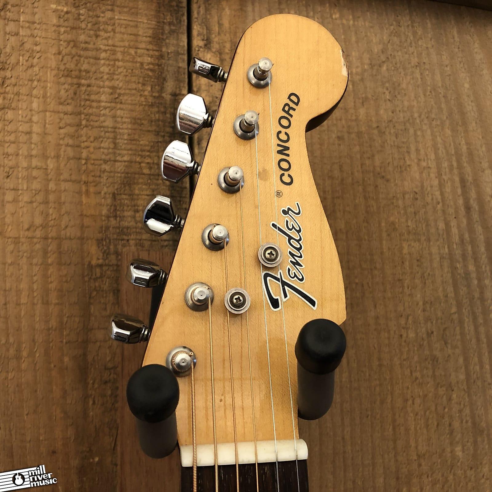 Fender Concord II Vintage MIK Dreadnought Natural c. 1980s-90s w/ Case Korea