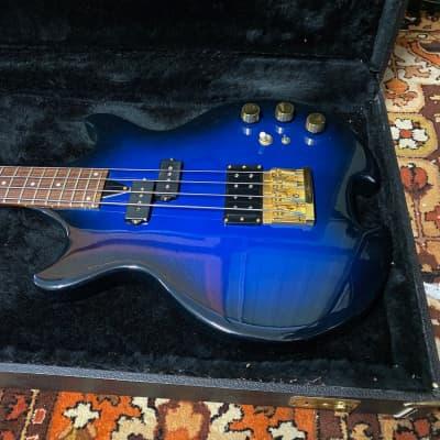 Vintage 1982 O'Hagan Nightwatch Special Blue Thru Neck USA Bass Guitar OHSC for sale