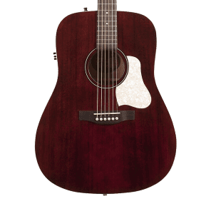 Art & Lutherie Americana Dreadnought w/ Electronics Tennessee Red