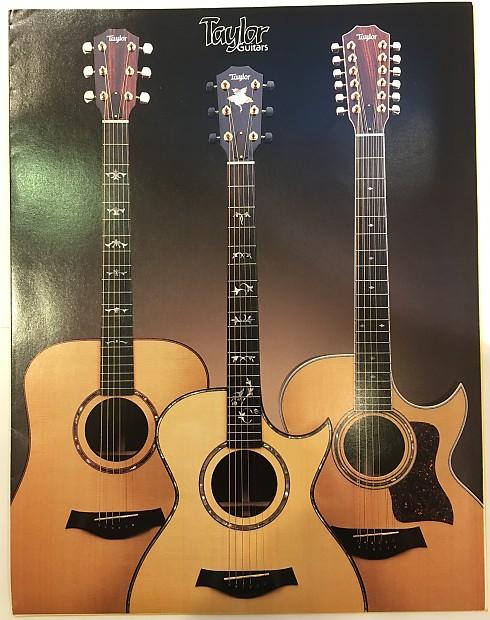 Taylor Guitar Catalog, Price List and Dealer Marketing Materiel 1990