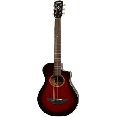 Yamaha APX T2 DRB Dark Red Burst guitare folk de voyage électro-acoustique for sale
