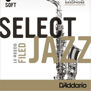 Rico RSF10ASX3S Select Jazz Alto Saxophone Reeds, Filed - Strength 3 Soft (10-Pack)