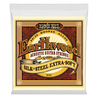 Ernie Ball Earthwood Silk & Steel Extra Soft 80/20 Bronze Acoustic Guitar Strings - 10-50 Gauge
