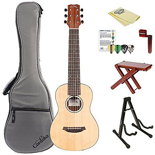 cordoba mini m miniature acoustic nylon string guitar with reverb. Black Bedroom Furniture Sets. Home Design Ideas