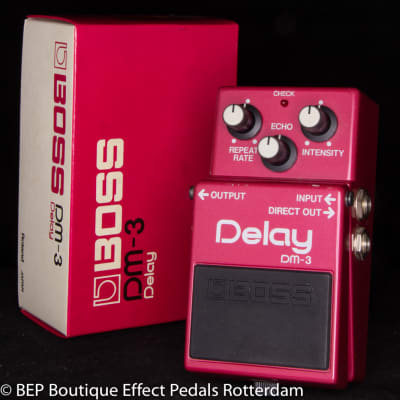 Boss DM-3 Delay 1984 Japan s/n 464000 with MN3205 BBD as used by Jet Rebel ( Great Dutch Musician )