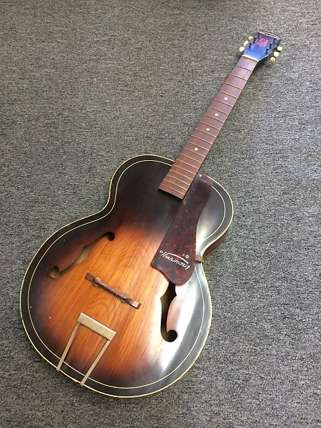 vintage harmony archtone h1215 acoustic archtop guitar for reverb. Black Bedroom Furniture Sets. Home Design Ideas