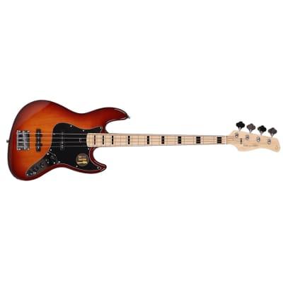 Sire V7 Vintage 2nd Gen Bass Guitar, Alder Body, TS Tobacco Sunburst w/ Gig Bag for sale