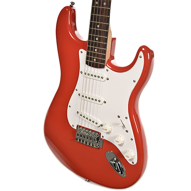 squier bullet stratocaster with tremolo fiesta red reverb. Black Bedroom Furniture Sets. Home Design Ideas