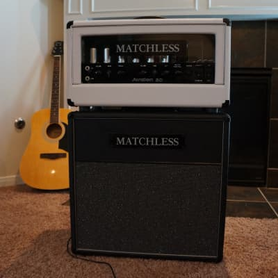 RARE Matchless Avalon 30 2 Channel with Reverb and 1x12 Cabinet White / Black Tolex for sale