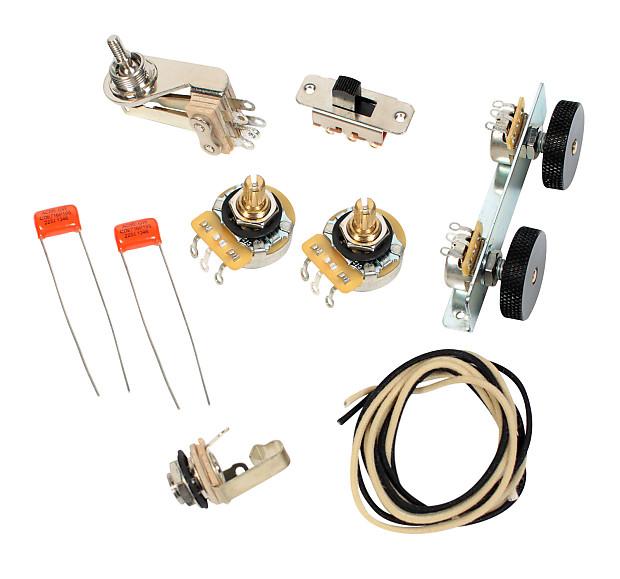 Fender Vintage Jazzmaster Wiring Kit - Pots Switch Slider | Reverb