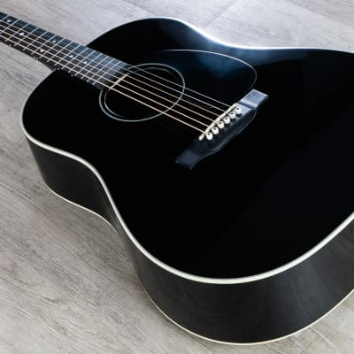 Martin Jimmy Buffet Custom Acoustic-Electric Guitar, Black, Rosewood-Spruce for sale