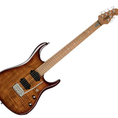 Sterling by Music Man JP150FM-ILB JP15 Signature in Flame Maple Island Burst - B-Stock for sale