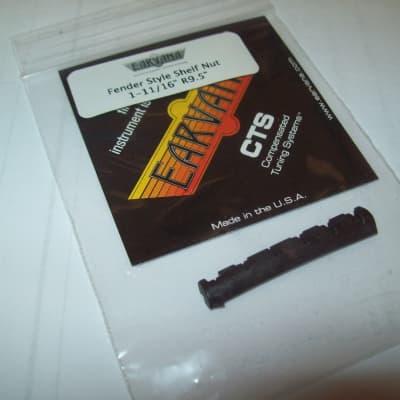 "Earvana Drop-In Compensated Nut For Fender, 1-11/16"", 9.5"" Radius - BLACK"