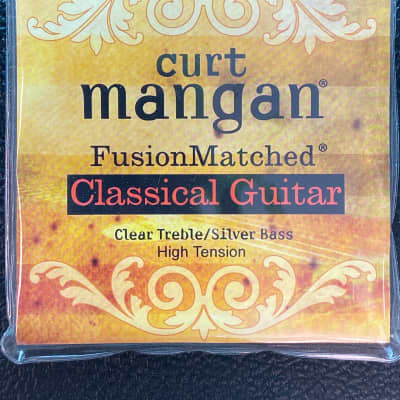 Curt Mangan Fusion Matched Classical Guitar Strings Clear Treble / Silver Bass