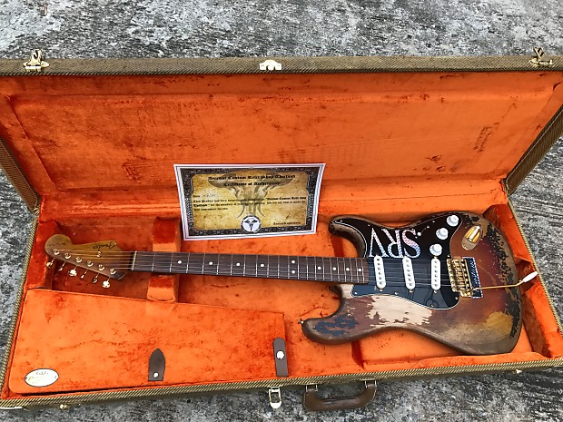Fender Stevie Ray Vaughan Number One Tribute Stratocaster By Anuwat Custom Relic