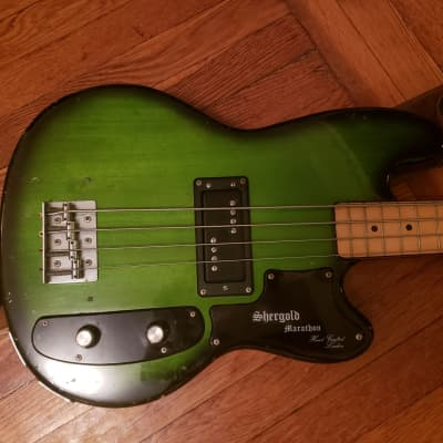Shergold Marathon Bass 1979 Greenburst for sale