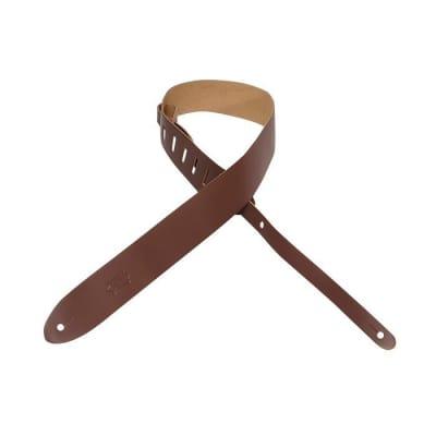 Levy's M12-BRN Genuine Leather Guitar Strap - Brown