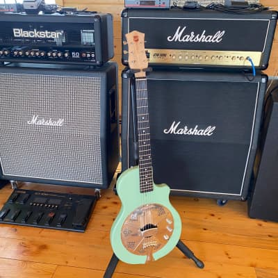National  Reso-Phonic Guitar - Res-O-Tone - Sea Foam Green 2021 Sea Foam Green