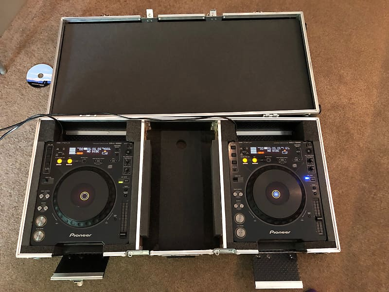 pair of pioneer cdj 1000s w turntable lab coffin barely reverb. Black Bedroom Furniture Sets. Home Design Ideas