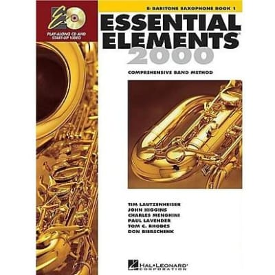 Essential Elements 2000: Comprehensive Band Method - E-Flat Baritone Saxophone | Book 1 (w/ DVD & CD)