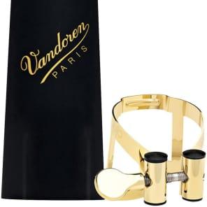 Vandoren LC56GP M/O Series 24ct Gold Soprano Saxophone Ligature and Plastic Cap