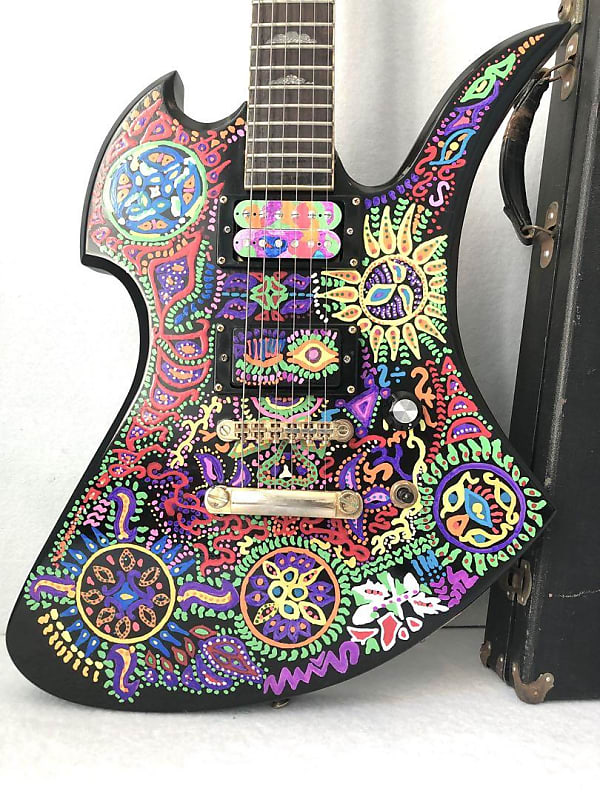 Fernandes MG Electric Guitar Hide Matsumoto Collection X-Japan Black and Hand-painted Signat