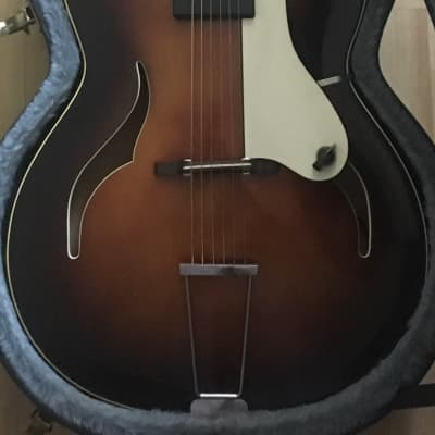 Vintage Hopf Archtop Guitar 1950s // 1960s Made in Germany w/ Lawrence Pickup & TKL Hard Case for sale
