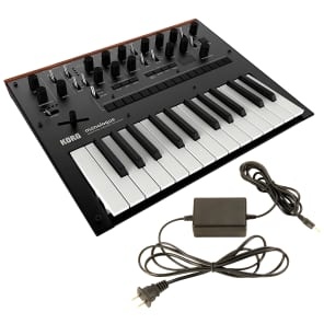 Korg Monologue Monophonic Analogue Synthesizer Black Bundle w/FREE Power Supply