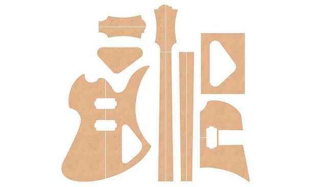 guitar template set b c rich mockingbird 1 2 reverb