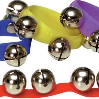 Rhythm Band Colored Velcro Wrist and Ankle Bells 12 Pack