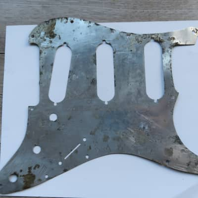 Fender Stratocaster Pickguard Shield  Relic Aged 63 . 64 , 60's   Aluminum avri  USA vintage
