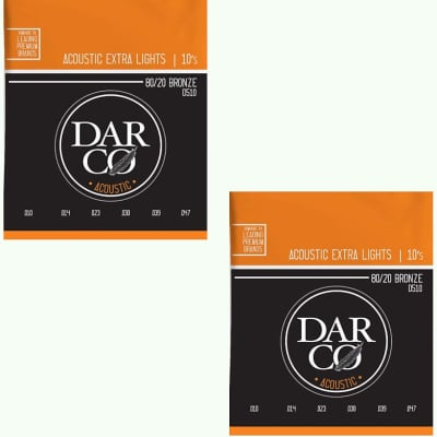 Darco Martin Guitar Strings 2-Pack Acoustic Extra Light 10-54