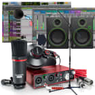 Focusrite Scarlett 2i2 Studio (2nd Gen) Recording Bundle with Pro Tools First, Mackie Monitors, Mic image