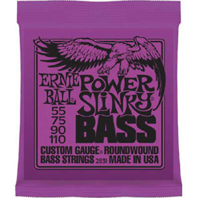 Ernie Ball Power Slinky Electric Bass Strings 55-110
