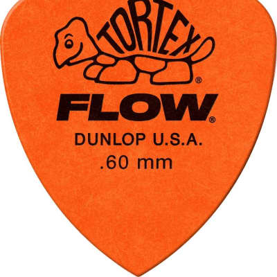 Dunlop 558R60 Tortex Flow Standard .60mm Guitar Picks (72-Pack)