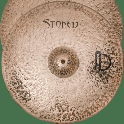 "Agean Cymbals 16"" Stoned Medium Thin Hi-hat"